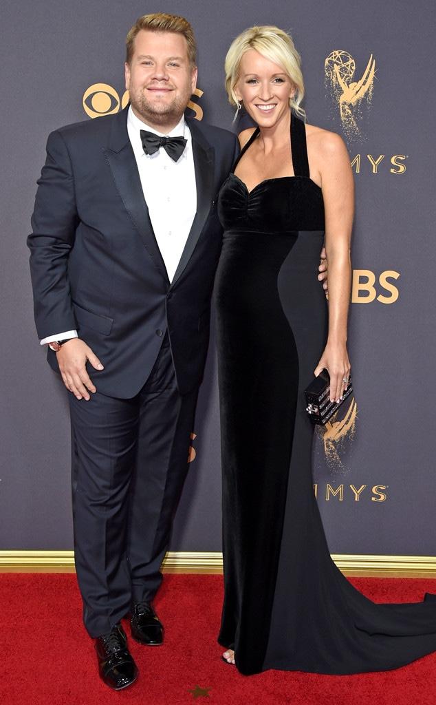 James Corden & Julia Carey, 2017 Emmys, Couples