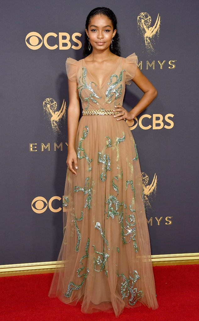 Yara Shahidi, 2017 Emmy Awards, Arrivals