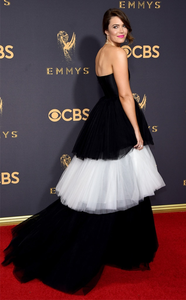 Black and White Goodness -  From black to white to black again, this star slays the red carpet in this stunning Carolina Herrera gown. Clearly, trains aren't just for weddings.