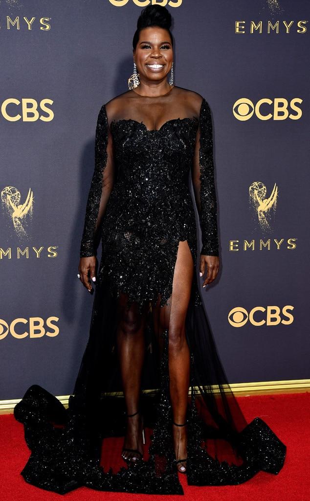 ESC: Leslie Jones, 2017 Emmy Awards, Arrivals, Christian Siriano