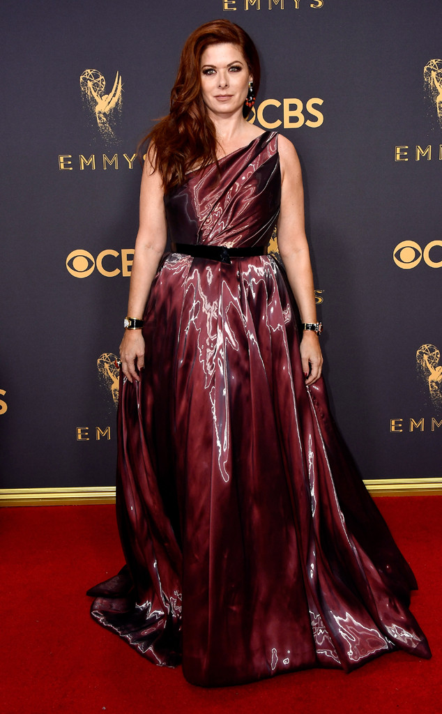 Debra Messing, 2017 Emmy Awards, Arrivals