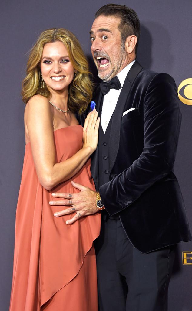 Hilarie Burton, Jeffrey Dean Morgan, 2017 Emmys, Candids