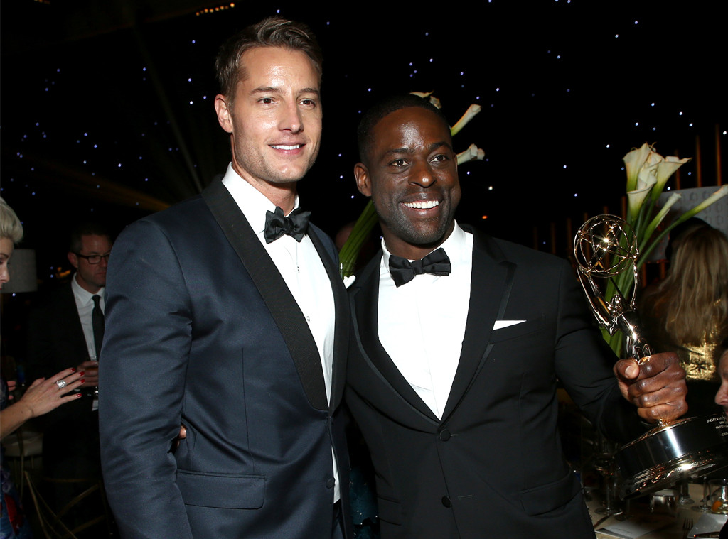 Sterling K. Brown, Justin Hartley, Emmy Party Pics 2017