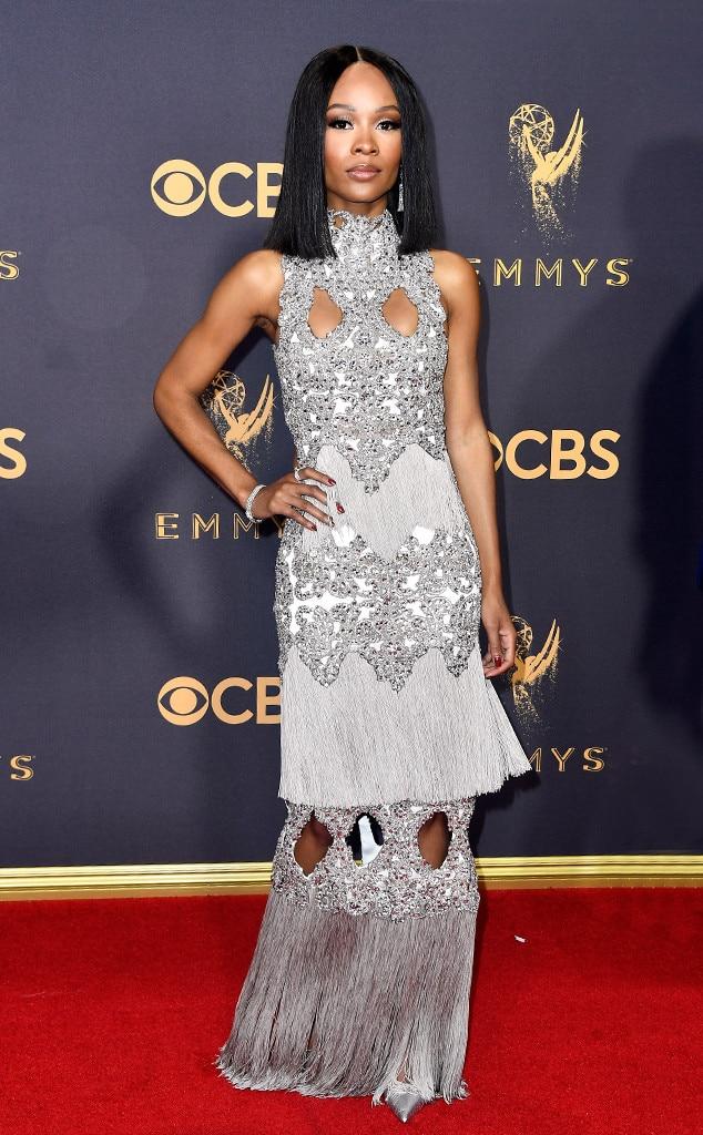 Zuri Hall, 2017 Emmy Awards, Arrivals