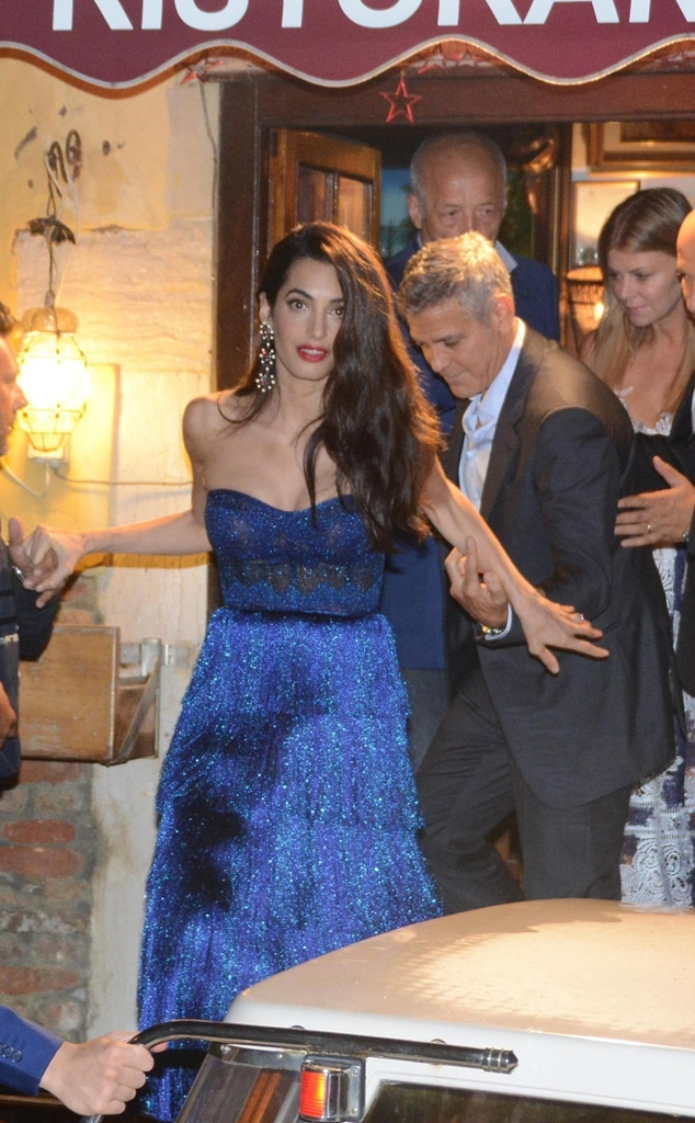 True Blue -  Amal stuns in a sapphire Missoni gown at the 2017 Venice Film Festival.