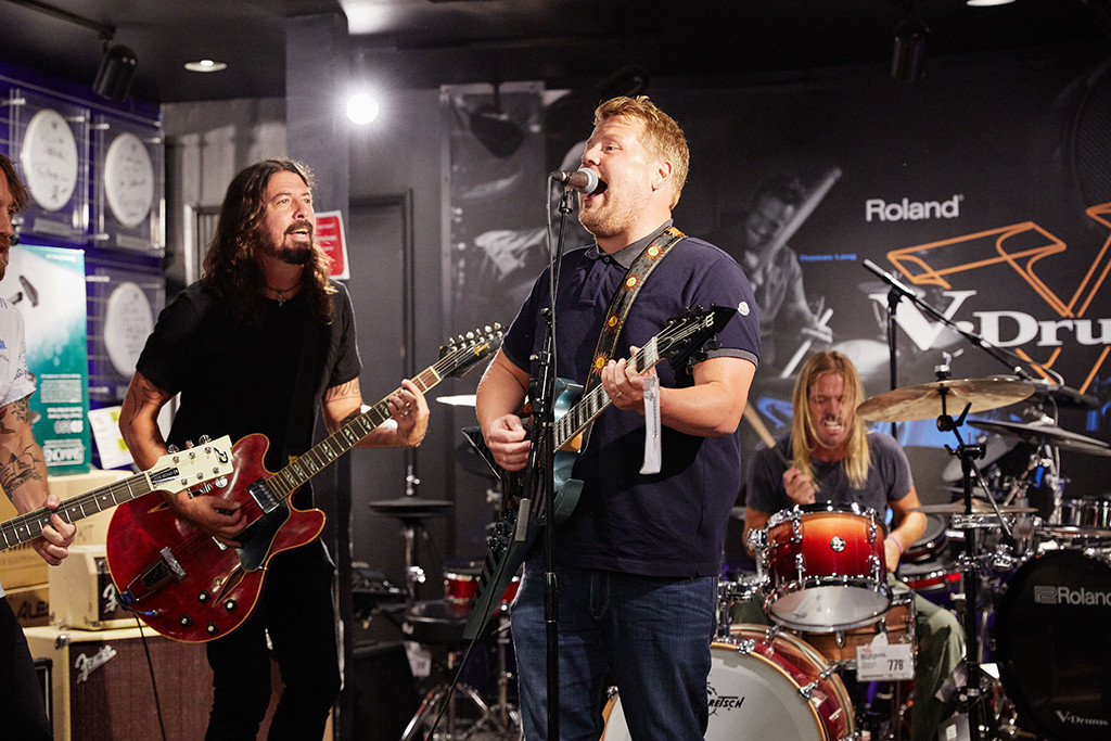 Foo Fighters, James Corden, The Late Late Show