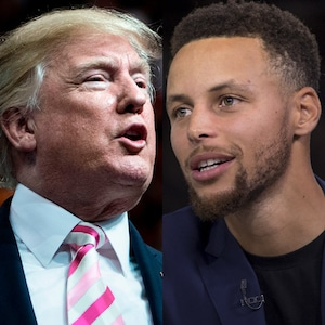 Donald Trump, Stephen Curry