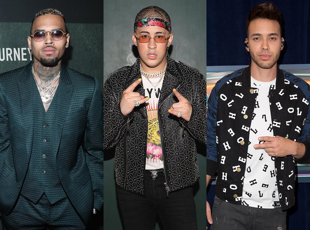 Chris Brown, Bad Bunny, Prince Royce