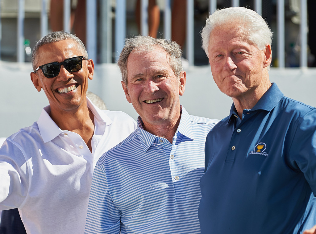 Obama, G.W. Bush, Bill Clinton, Presidents Cup