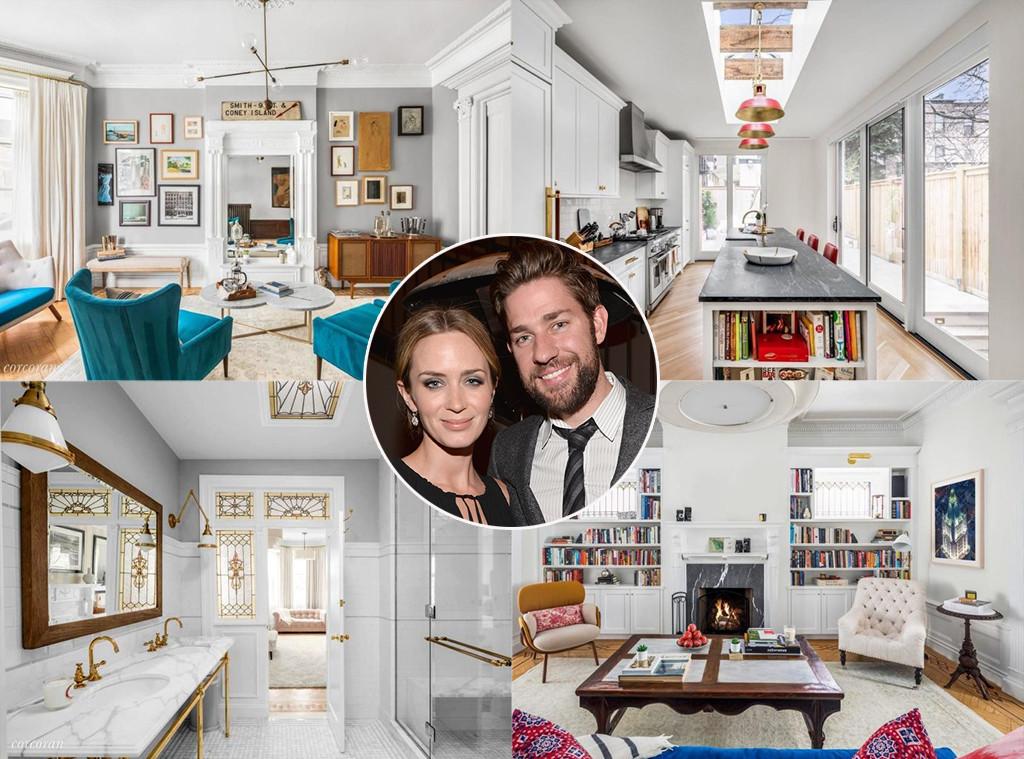 John Krasinski & Emily Blunt, Brooklyn townhouse