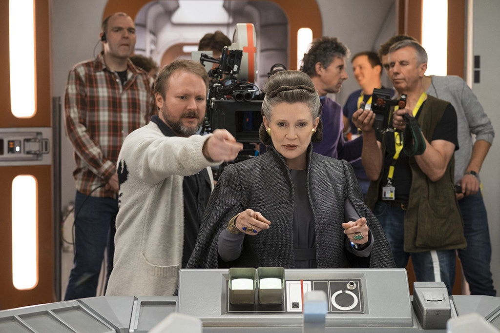 Rian Johnson, Carrie Fisher Star Wars the Last Jedi