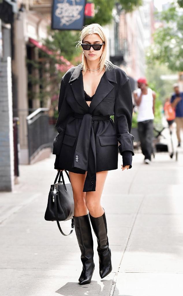 Hailey Baldwin From Best Celeb Street Style From Nyfw