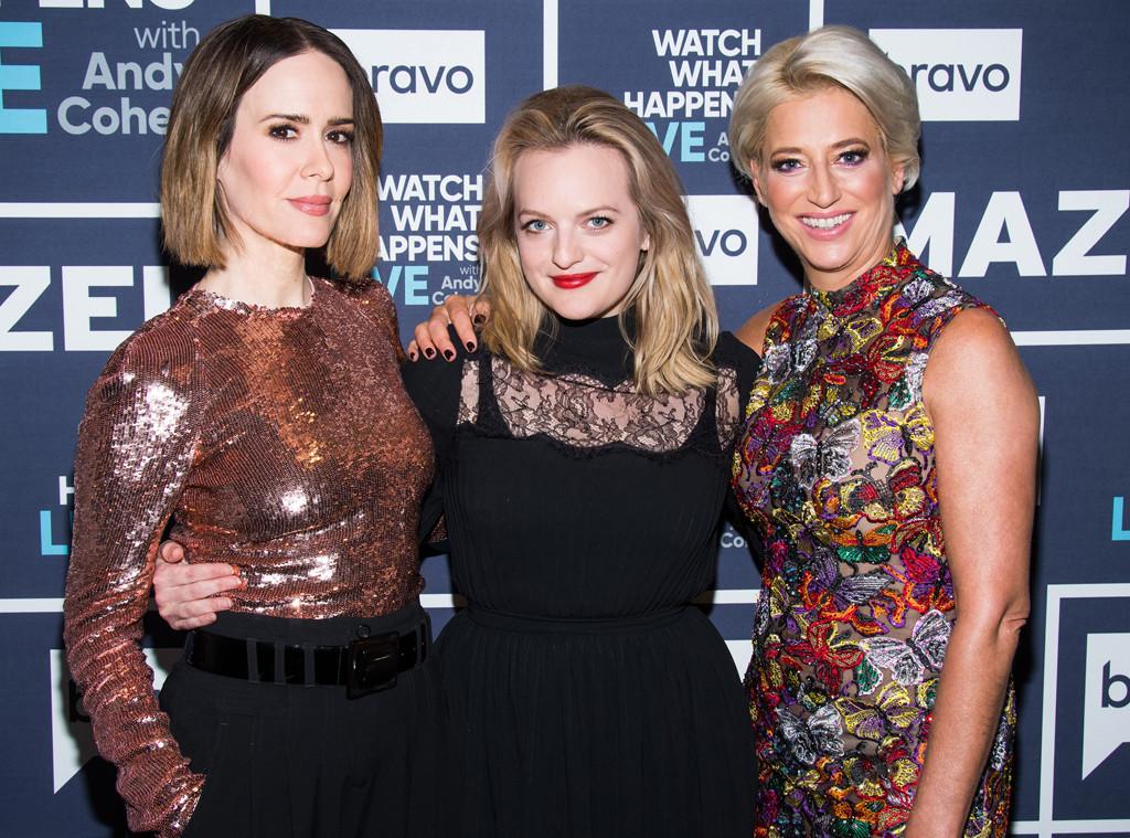Sarah Paulson, Dorinda Medley, Elisabeth Moss, Watch What Happens Live