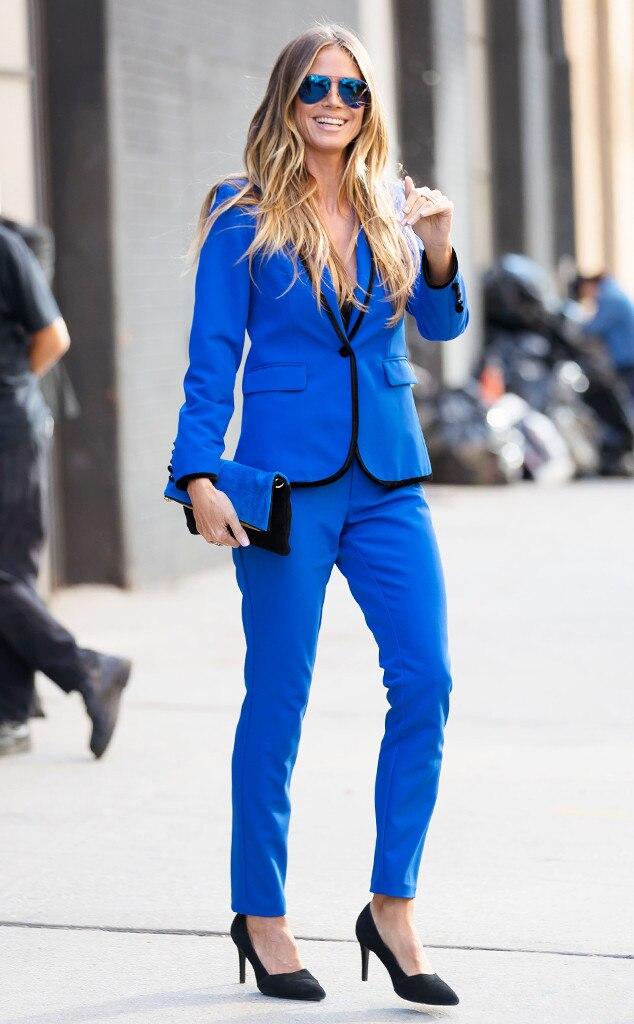 Heidi Klum From Best Celeb Street Style From Nyfw Spring 2018 E News Uk