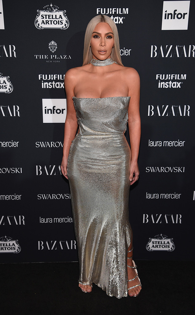 Kim Kardashian, NYFW 2017, Harpers Bazaar Party