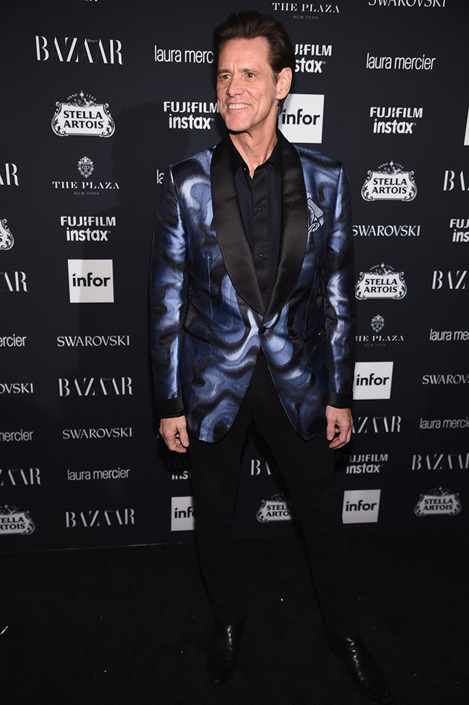 Jim Carrey, NYFW 2017, Harpers Bazaar Party