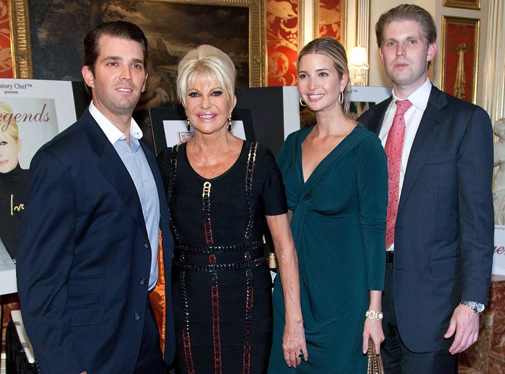 Donald Trump Jr., Ivana Trump, Ivanka Trump, Eric Trump