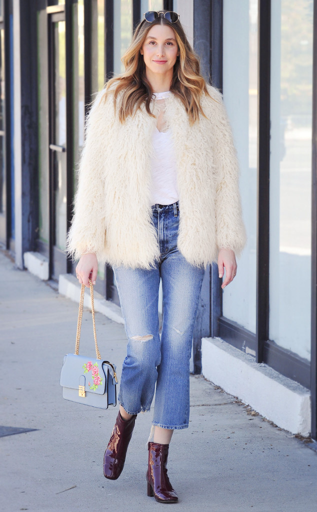 saturday savings whitney port 39 s faux fur jacket is 40. Black Bedroom Furniture Sets. Home Design Ideas