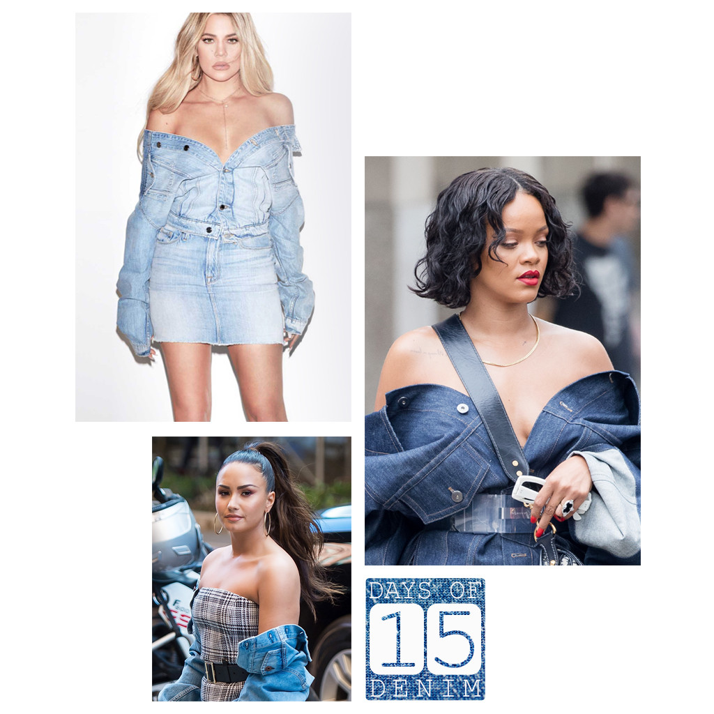 Image result for Off-shoulder Denim Jackets.