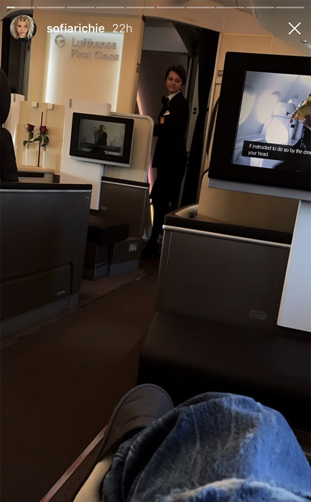 Sofia Richie, Lufthansa, Flight, Plane