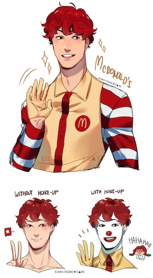 Artista recria mascotes de fast food em anime