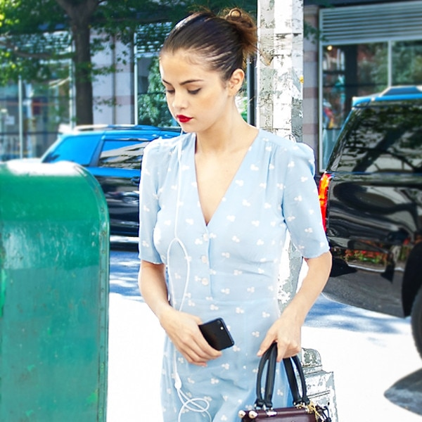 How to Wear Sneakers With Dresses Like Selena Gomez and
