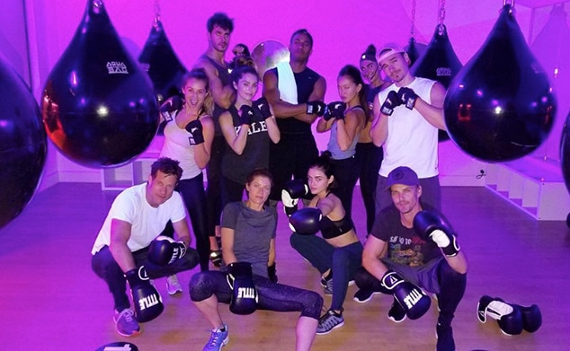 Lucy Hale -  The actress and her  Life Sentence  co-stars enjoy a break from filming to visit STUDEO Vancouver for a group boxing workout.