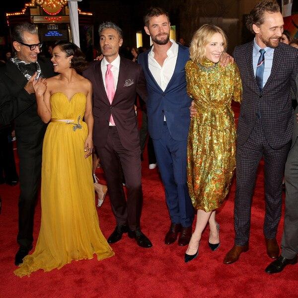 Jeff Goldblum, Tessa Thompson, Taika Waititi, Chris Hemsworth, Cate Blanchett, Tom Hiddleston, Mark Ruffalo