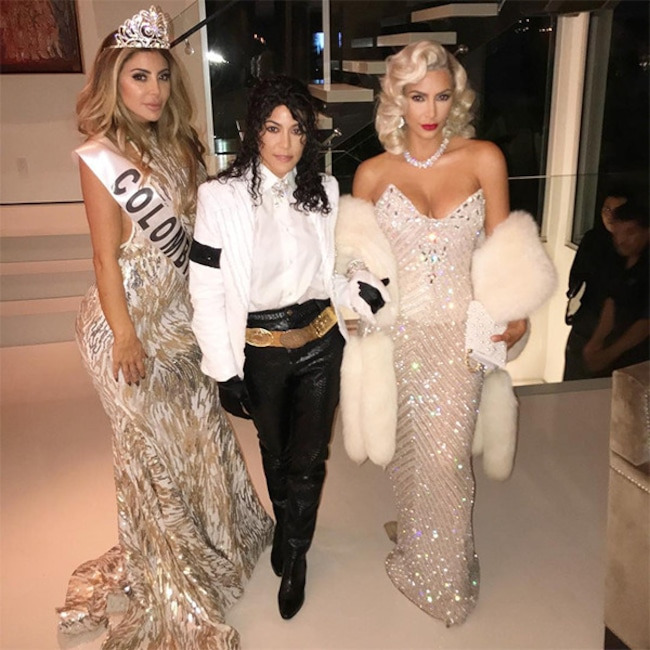 Kim Kardashian, Kourtney Kardashian, Larsa Pippen, Halloween, 2017, Madonna, Michael Jackson