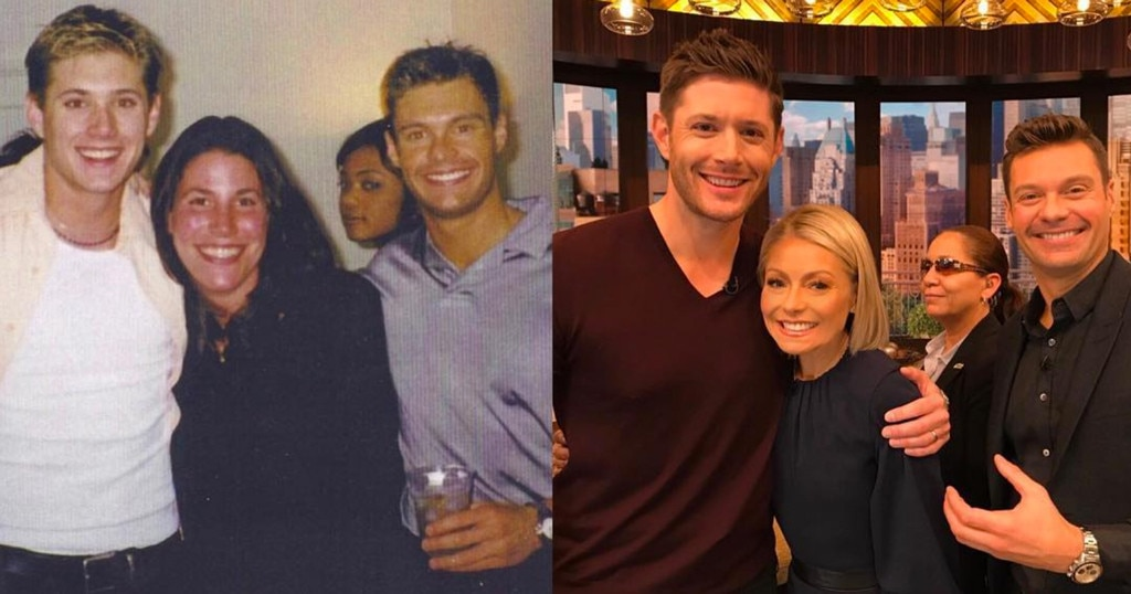 Ryan Seacrest & Jensen Ackles -  The  Supernatural  actor and the  LIVE With Kelly and Ryan  co-host used to live together in Los Angeles years ago. This photo was taken the night that they threw a party in their apartment because they were able to get free, crushed ice down the street from a Chinese restaurant.