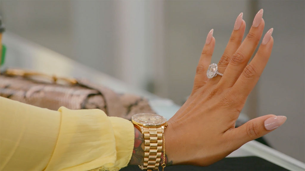 See Shantel Jackson Try on a Massive 200000 Engagement Ring on The