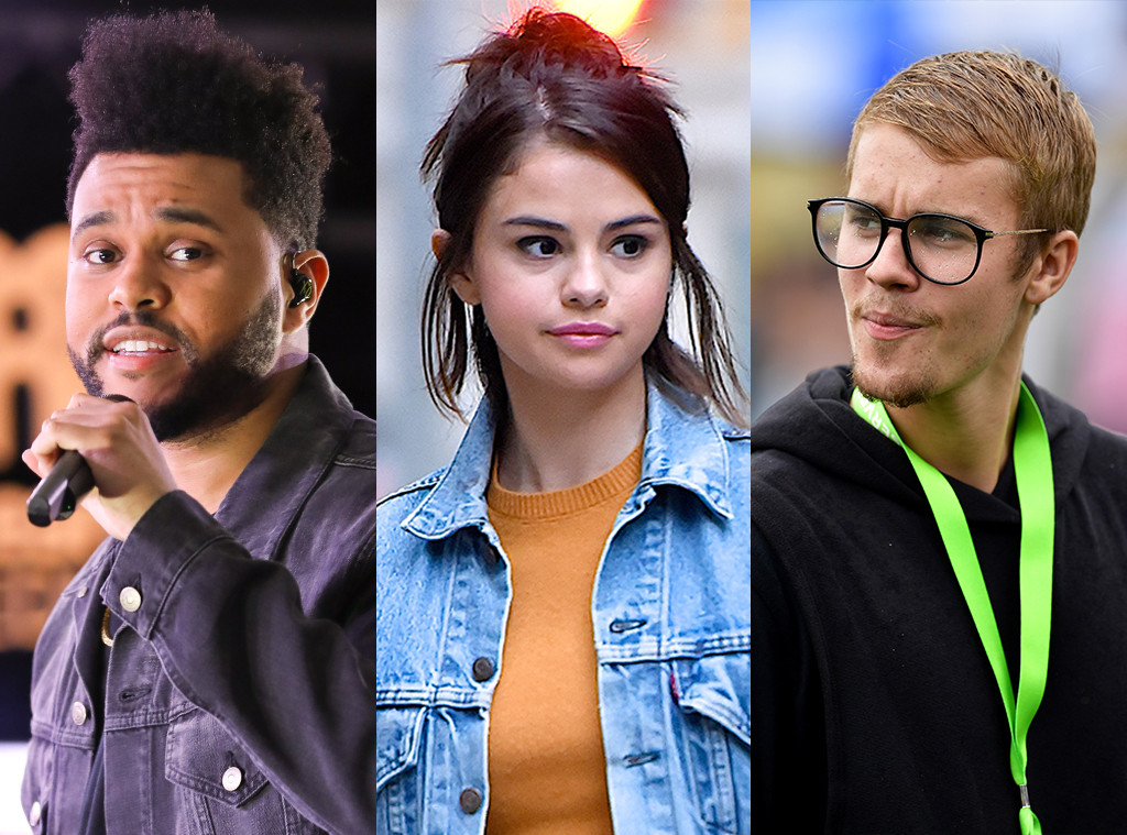 The Weeknd, Selena Gomez, Justin Bieber