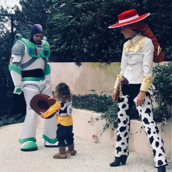 Justin Timberlake Jessica Biel and Son Silasu0027 Halloween Costumes Go to Infinity and Beyond   E! News  sc 1 st  E! News & Justin Timberlake Jessica Biel and Son Silasu0027 Halloween Costumes Go ...