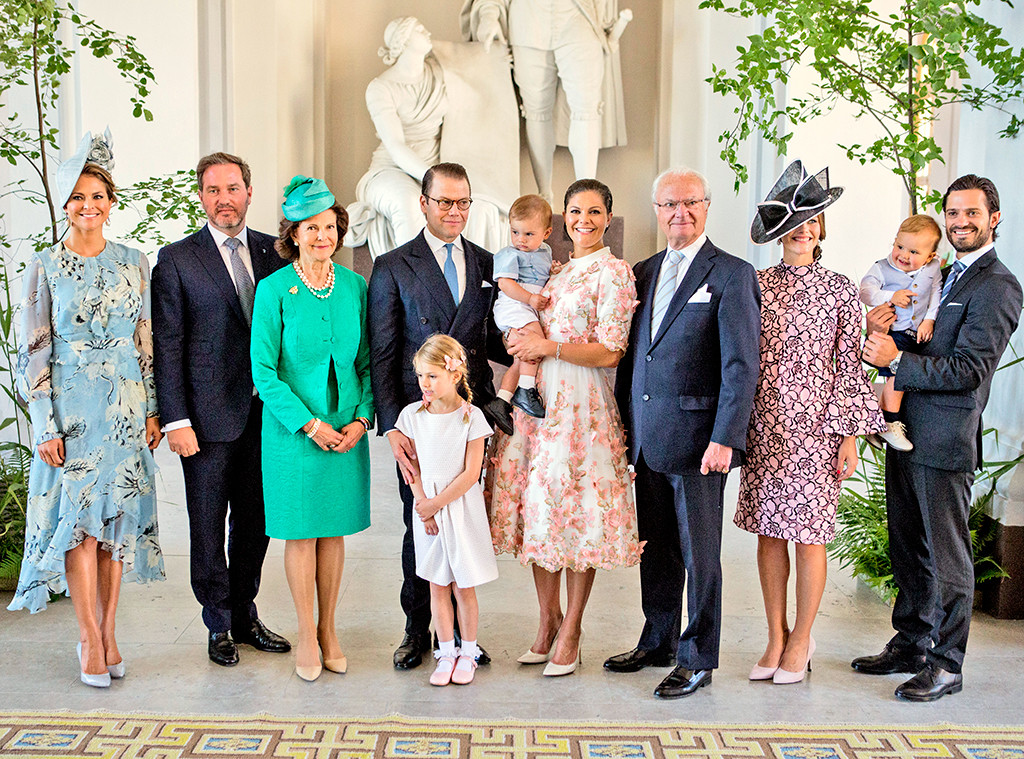 Princess Madeleine, Christopher O'Neill, Queen Silvia, Prince Daniel, Princess Estelle, Prince Oscar, Crown Princess Victoria, King Car
