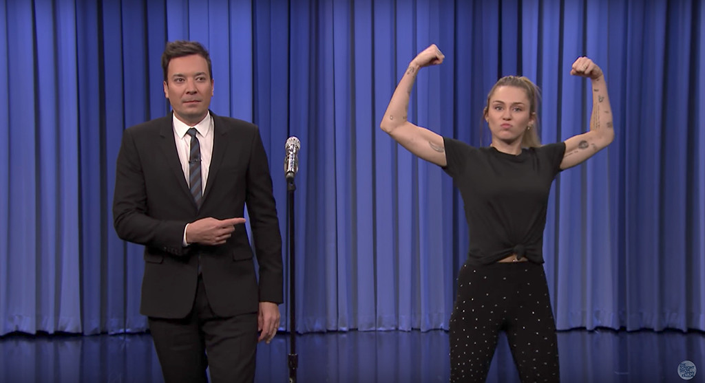 Miley Cyrus, Jimmy Fallon, The Tonight Show