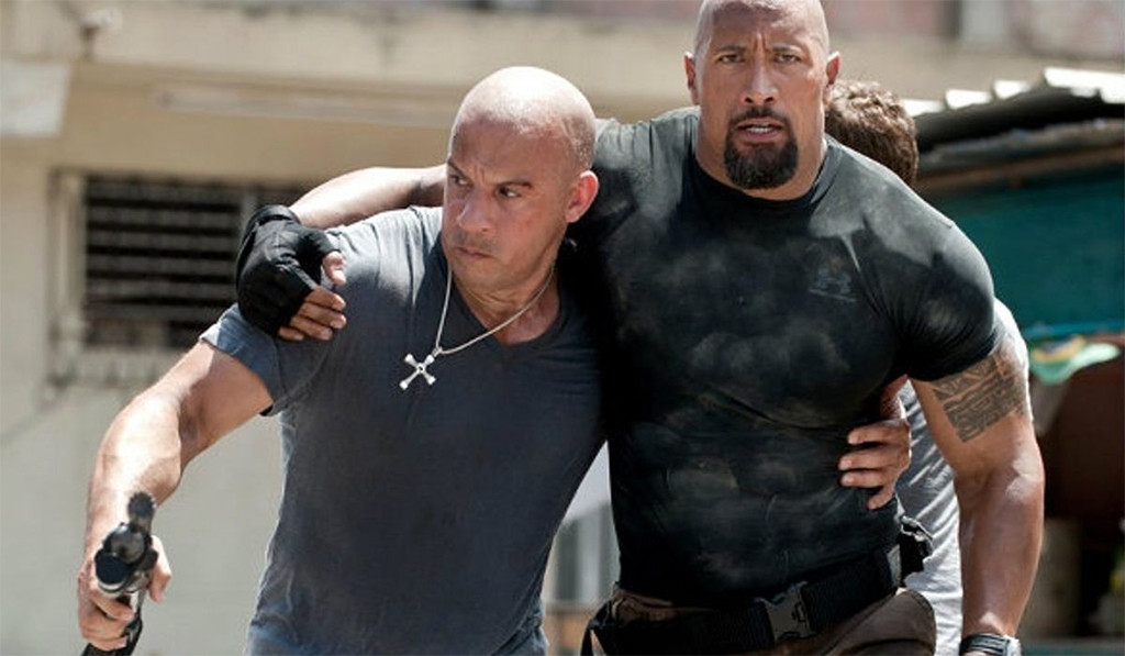 Vin Diesel, Dwanye Johnson, Fast & Furious 6