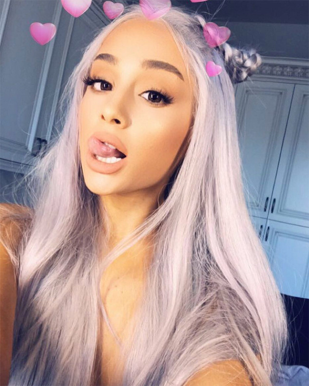 Ariana Grande Dyes Her Hair Grey Not Purple E News