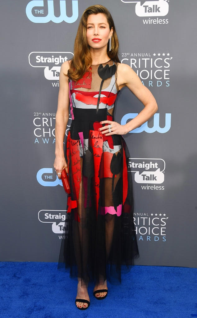 Jessica Biel, 2018 Critics' Choice Awards