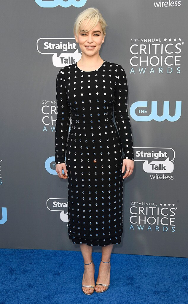 Emilia Clarke, 2018 Critics' Choice Awards