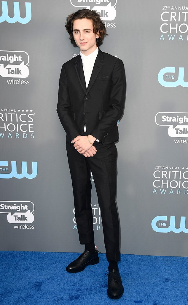 Timothee Chalamet, 2018 Critics Choice Awards