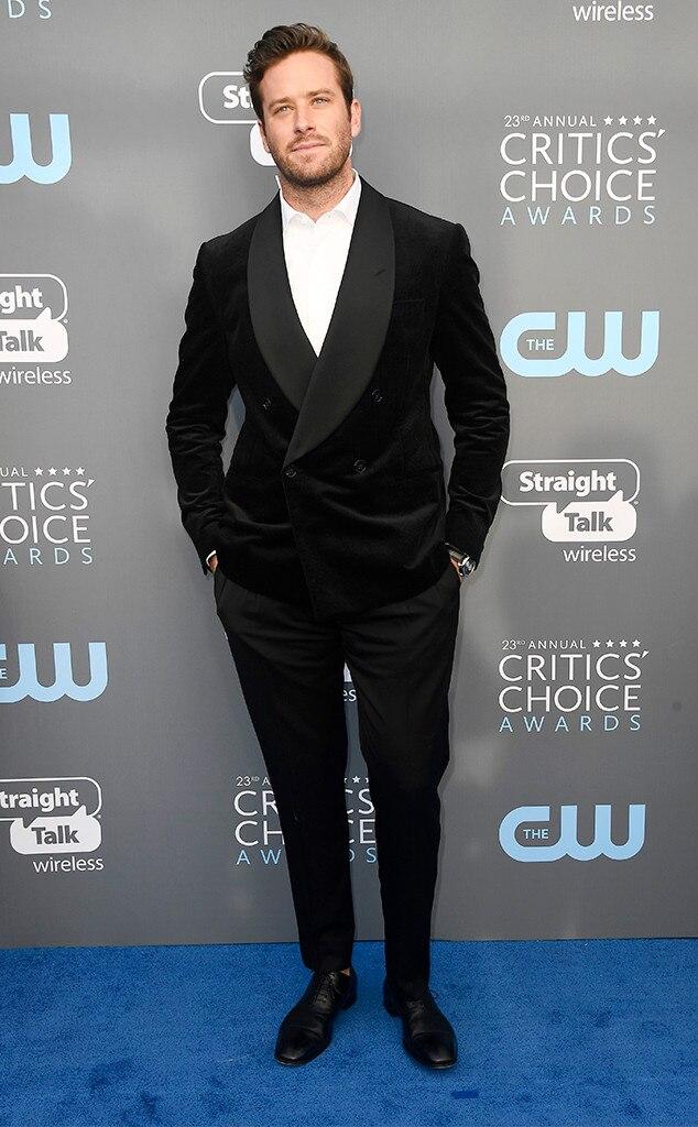 Armie Hammer, 2018 Critics' Choice Awards