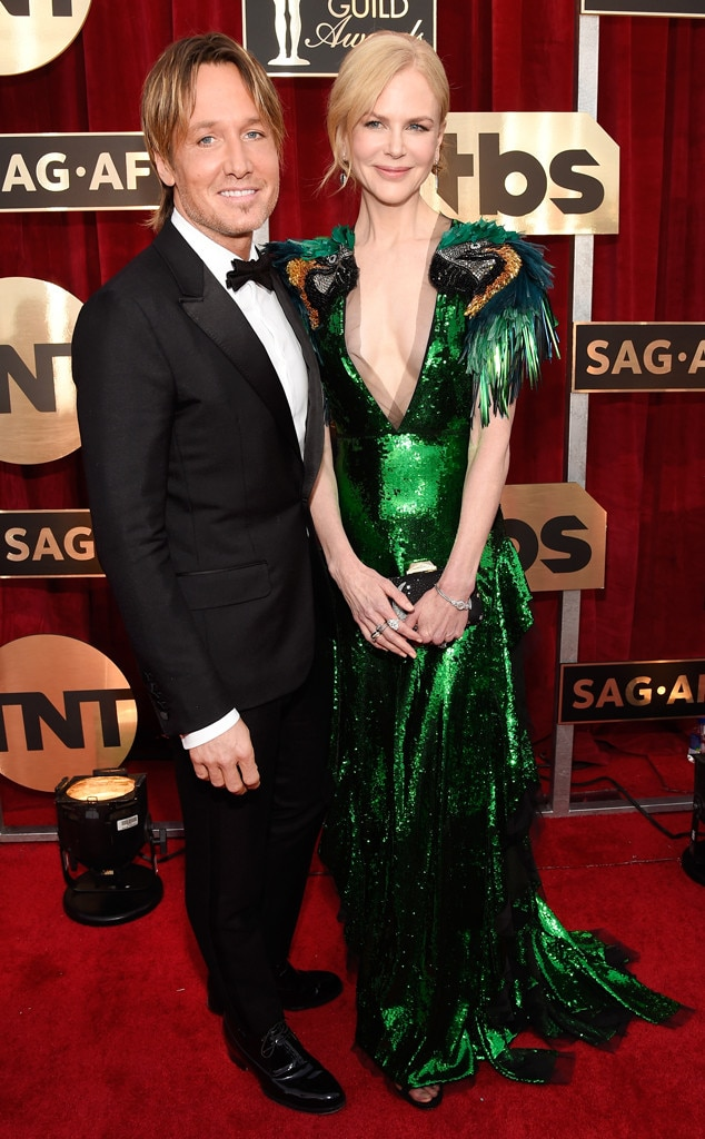 Keith Urban, Nicole Kidman, 2017 SAG Awards, Couples