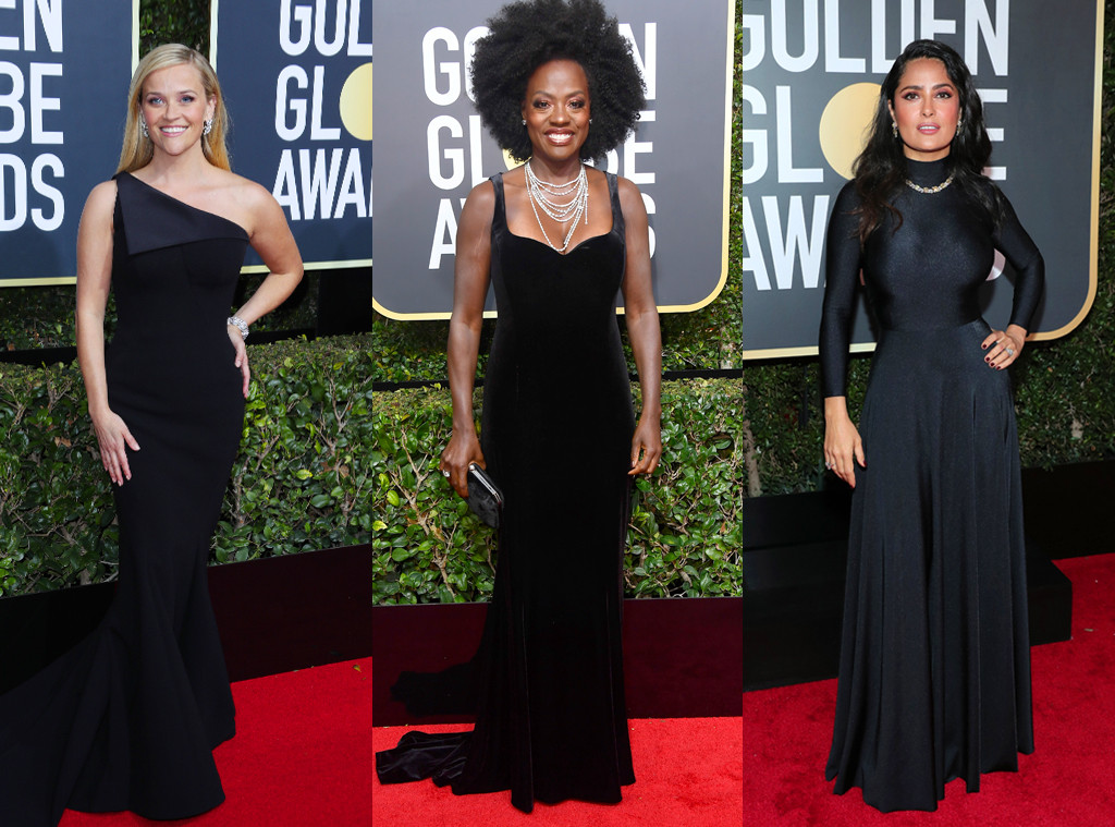 Reese Witherspoon, Viola Davis, Salma Hayek, 2018 Golden Globes, Red Carpet Fashions
