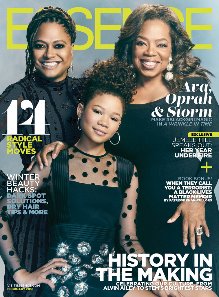 Oprah Winfrey, Storm Reid, Ava DuVernay, Essence Cover