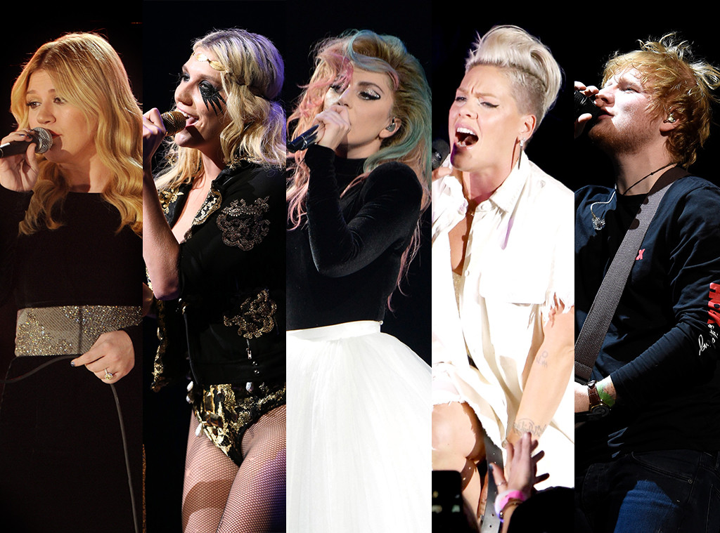 Grammys 2018 Splits, Best Pop Performance: Kelly Clarkson, Kesha, Lady Gaga, Pink, Ed Sheeran