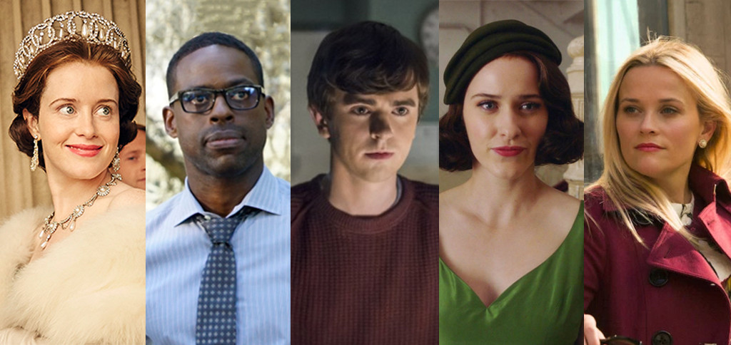 Golden Globes predictions, split #11, Claire Foy, Sterling K. Brown, Freddie Highmore, Rachel Brosnahan, Reese Witherspoon