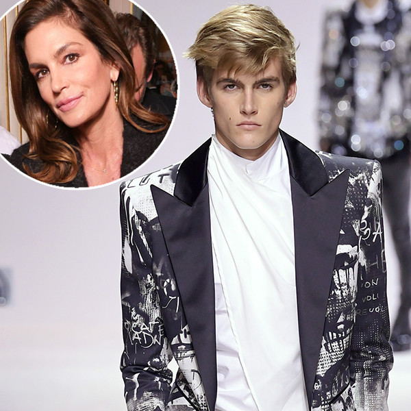 Cindy Crawford Is One Proud Mom Supporting Son Presley at Paris Fashion Week