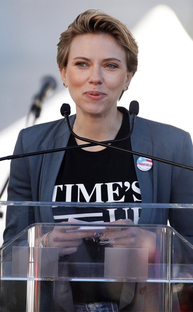 Scarlett Johansson, Women's March, Los Angeles, 2018