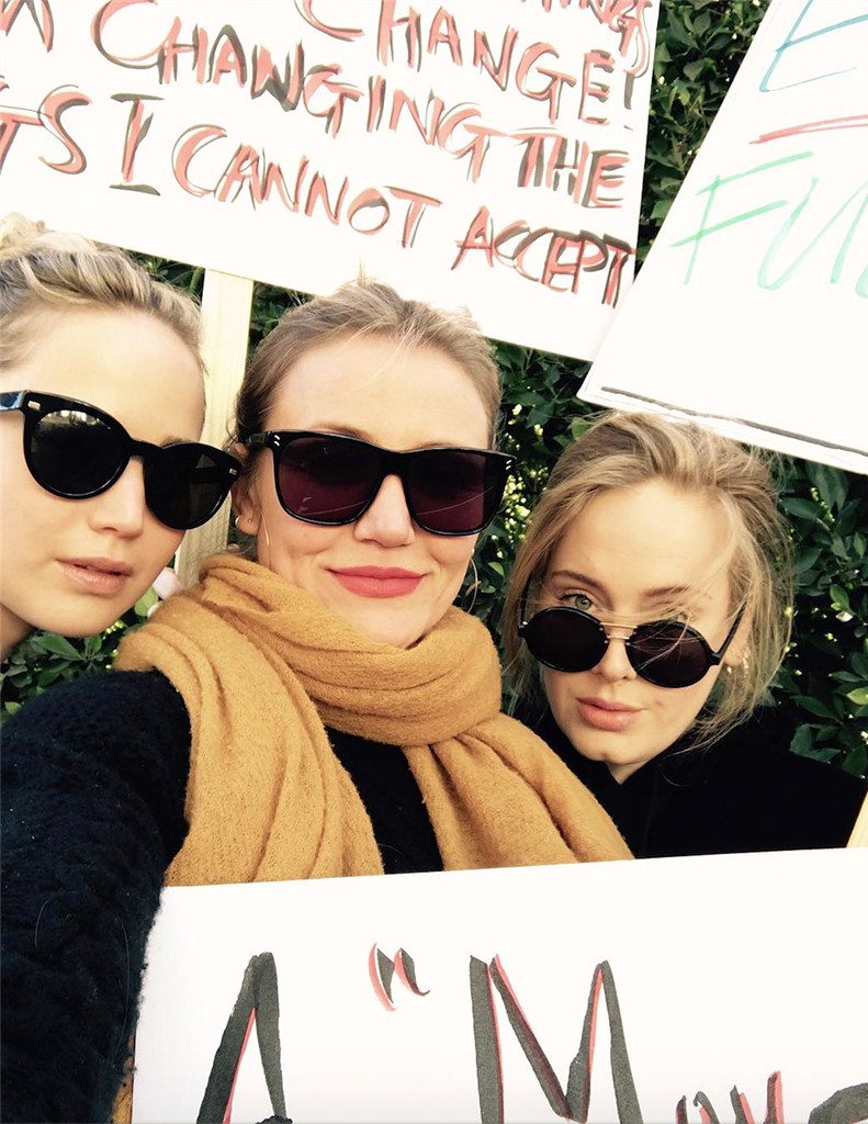Adele, Women's March, Instagram