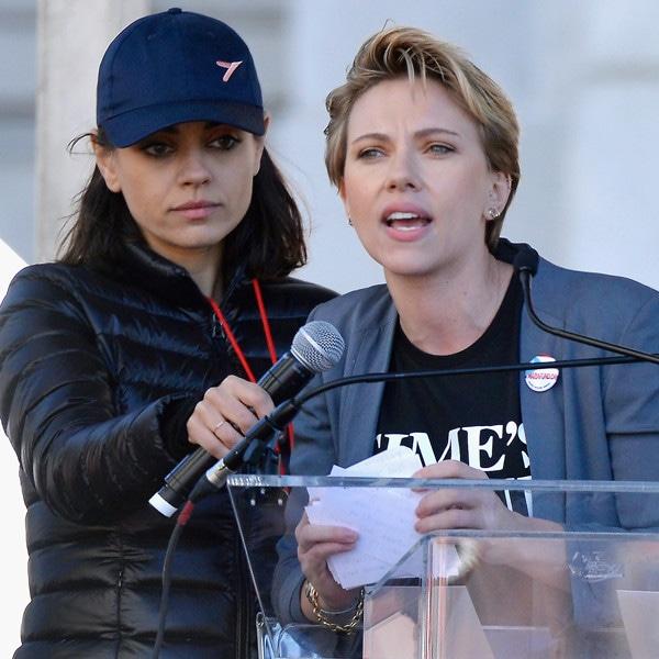 Mila Kunis, Scarlett Johansson, Women's March 2018